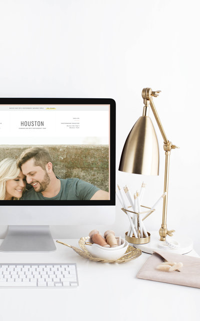 Houston - Showit Website Template by With Grace and Gold