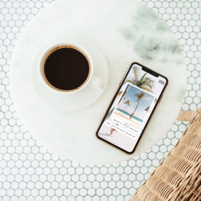 Iphone tiled background coffee flatlay
