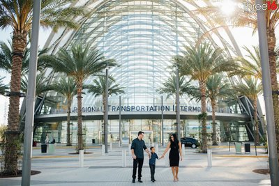 ARTIC Train Station Urban Family Session Anaheim Orange County Photography