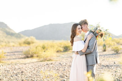 Mountain Estrella Sunset Engagement Session with MaeWood Photography-8