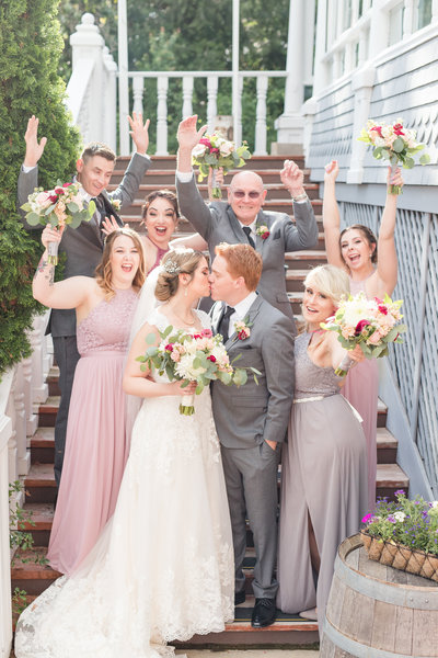 A Classic, blush and gray wedding at the Wedgewood Sequoia Mansion in Placerville, CA