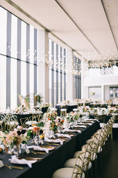 A colorful luxury wedding in Boston at the State Room with creative design and wedding planning by Best in Boston wedding planner Always Yours Events