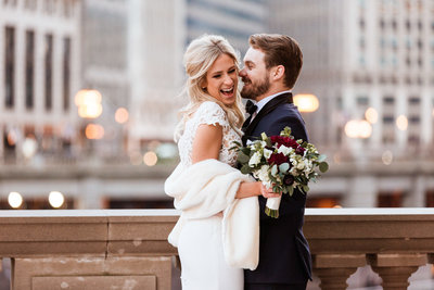 Chicago-Riverwalk-Bride-Groom-Portrait