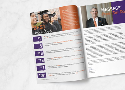 Booklet Design for Clemson University by Ke design studio