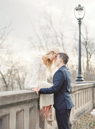 engagement session along Lake Michigan Photographed by Amy Mulder Photography