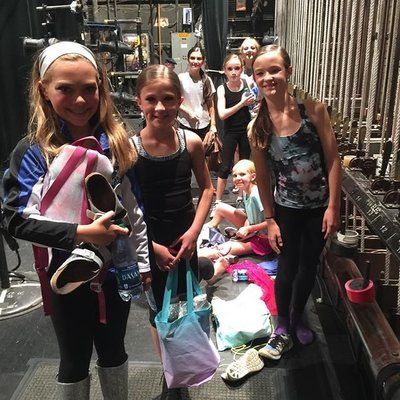 Backstage during rehearsal #nationaldanceday #ADFinCLE