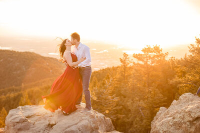 Lost Gulch Boulder Engagement Session