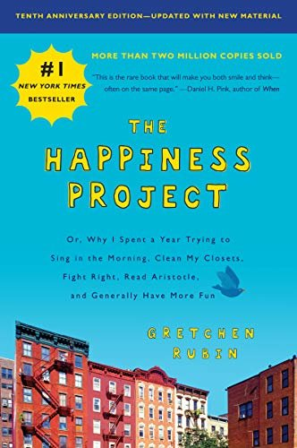 Cover image of the book, The Happiness Project