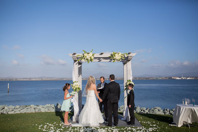 Ceremony site overlooking the Bay at Loews Coronado
