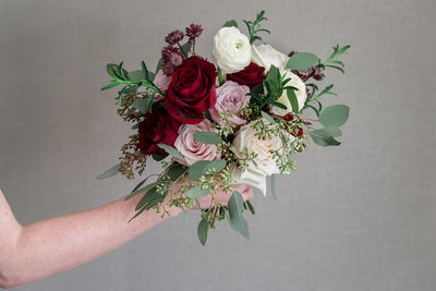 Blush and Bugundy Medium Bouquet