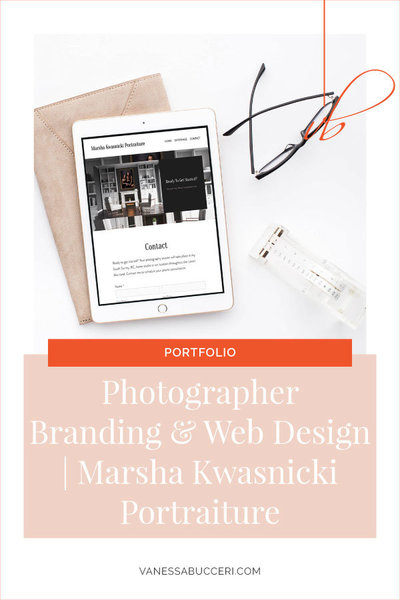 Portrait Photographer Brand and Squarespace Web Design