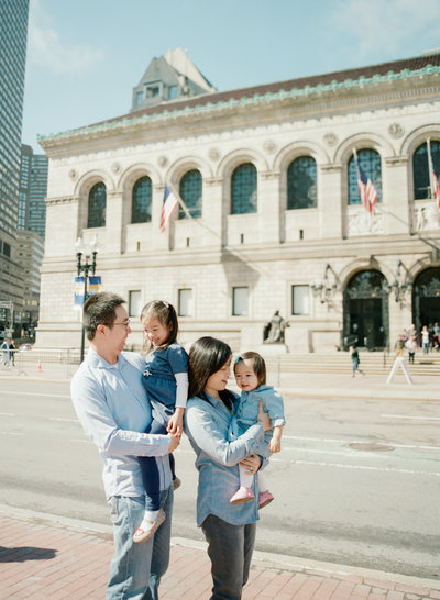 Boston Public Library & Public Park Family Photoshoot-Film-1