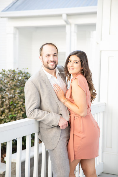 Engagement Portrait in Downtown Ocean Springs