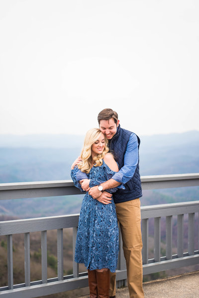 Hunter and Mackenzie Engagement Session Blowing Rock NC