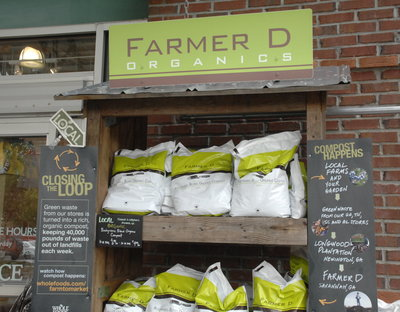 Farmer D compost display at Whole Foods2009