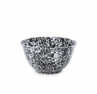 Crow Canyon Black Splatter Salad Bowl