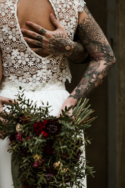 Sage & Stone Photography tattooed wedding couple