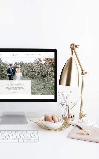 Bellevue - Showit Website Template by With Grace and Gold