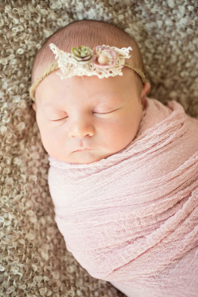 lace headband newborn photography