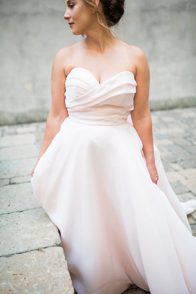 Wedding Photography, bride in blush colored gown