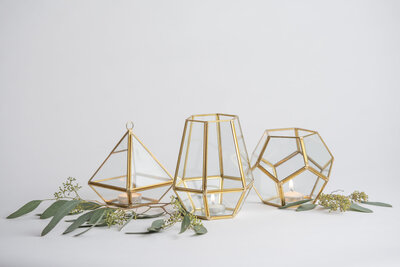 Small Geometric Lantern Rental
