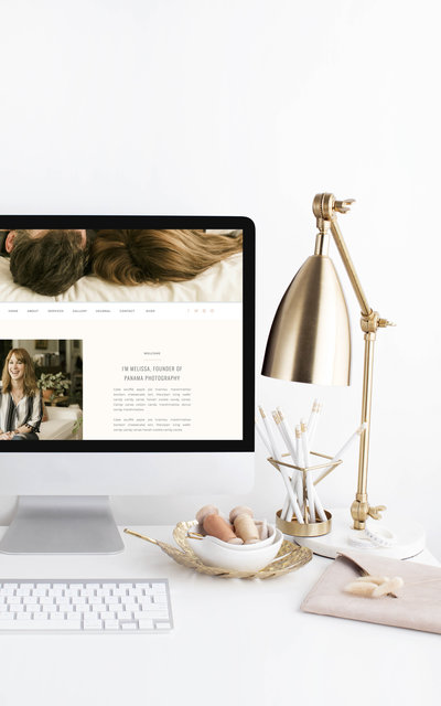 Panama - Showit Website Template by With Grace and Gold