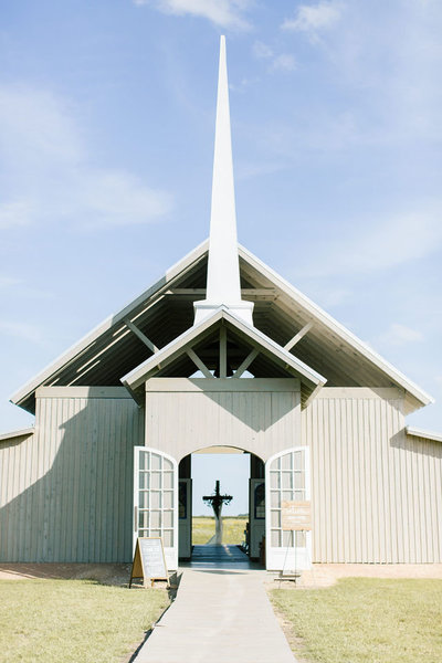 White Texas Wedding Chapel White