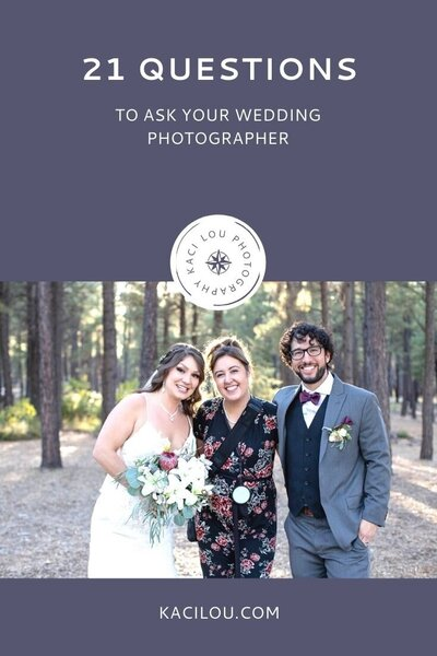 List of questions to ask your wedding or elopement photographer before booking them