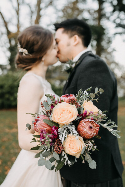 Norwood_Hall_Wedding_Kiss