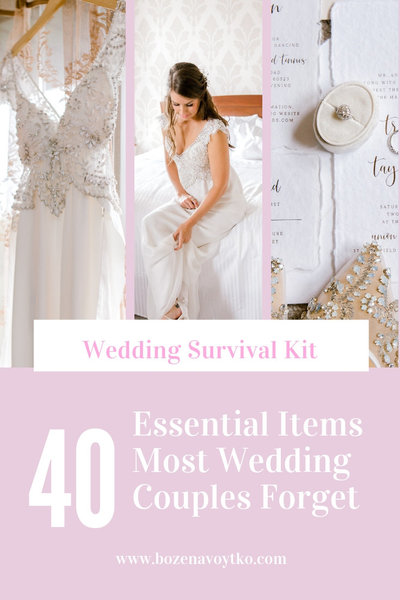 40Essential Items Most Wedding Couples Forget 1