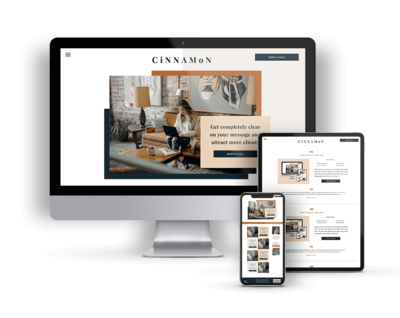 Cinnamon is a Showit Website Template