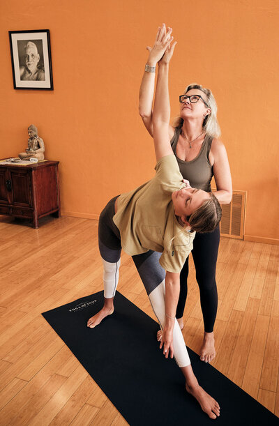 Suzanne Marlow teaching at Yoga Soup