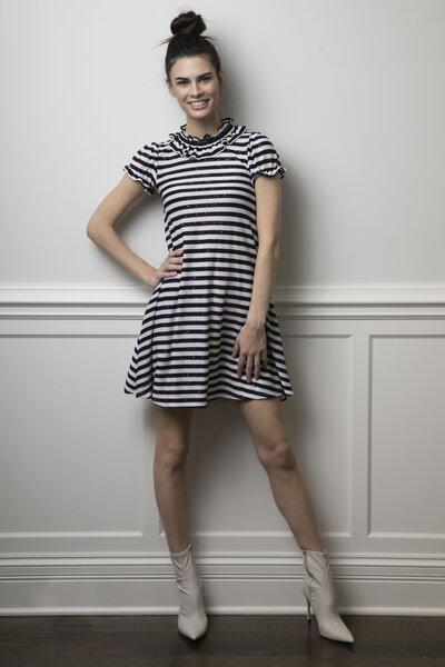 The Special Edition Holiday Violet Dress Tuxedo Stripe 01