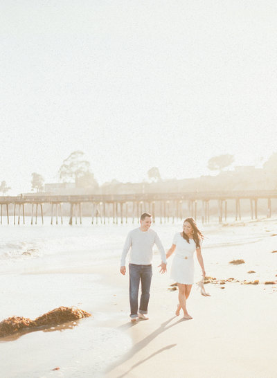 Lovely Santa Cruz Capitola Beach Engagement Photos by Fine Art Film Photographers, Evonne and Darren Photography