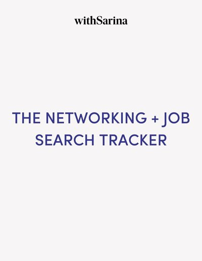 Networking Tracker Freebie Updated