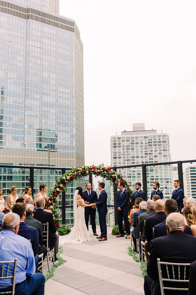 Chicago Rooftop Wedding Photo