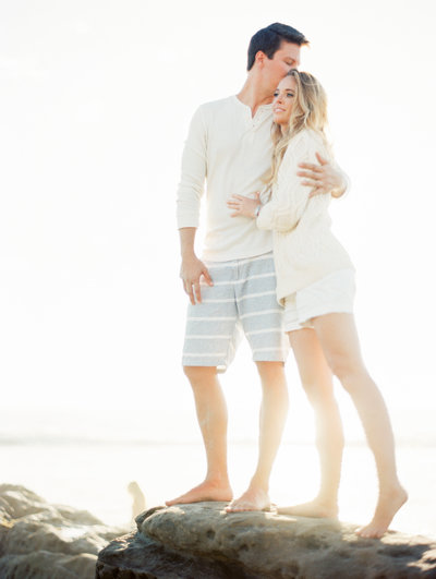 Beautiful beach engagement session