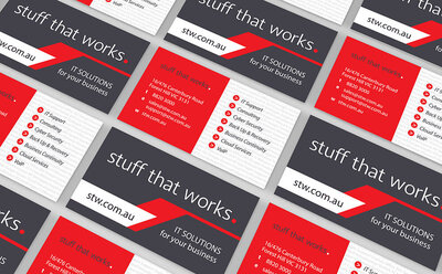 Stuff That Works Business Cards by The Brand Advisory