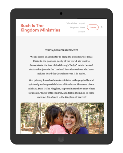 missionary squarespace website