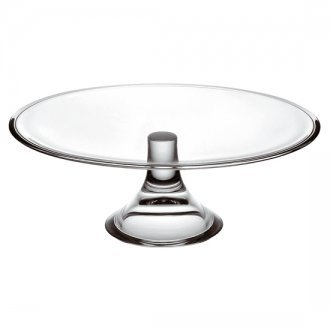 clear glass cake pedestal rental