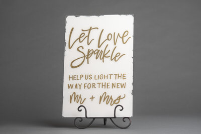 Sparkler White Acrylic Sign