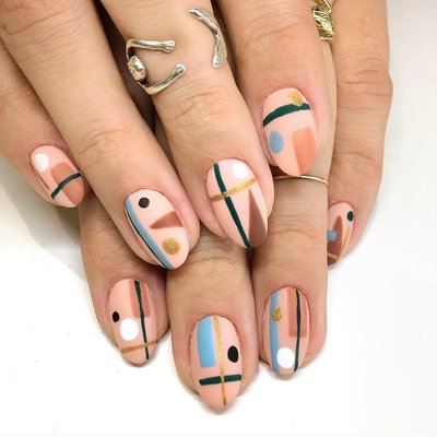 abstract nails after