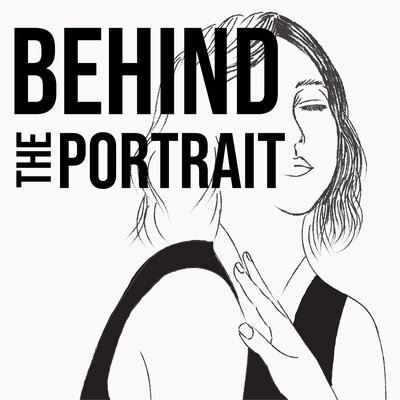 behind the portrait