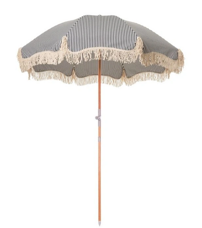 Navy Striped Frince Umbrella