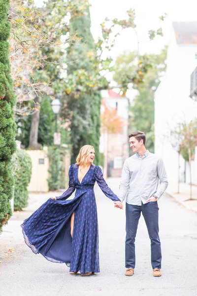 Blue Revolve Engagement Dress