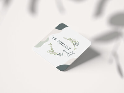 Be Totally Well Card Front Mockup