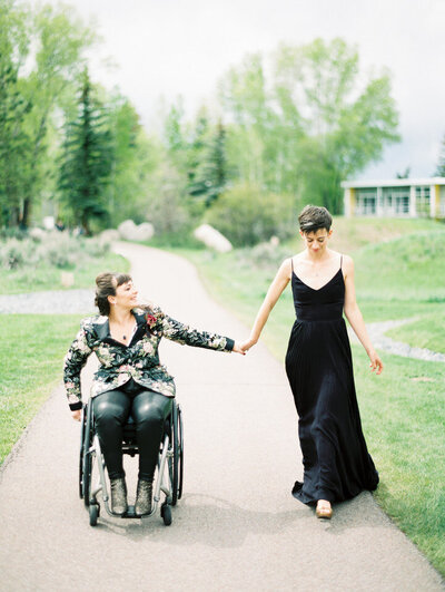 lesbian wedding at aspen meadows resort