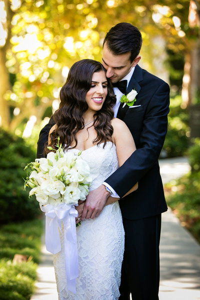 garden portrait jewish wedding photographer skirball los angeles