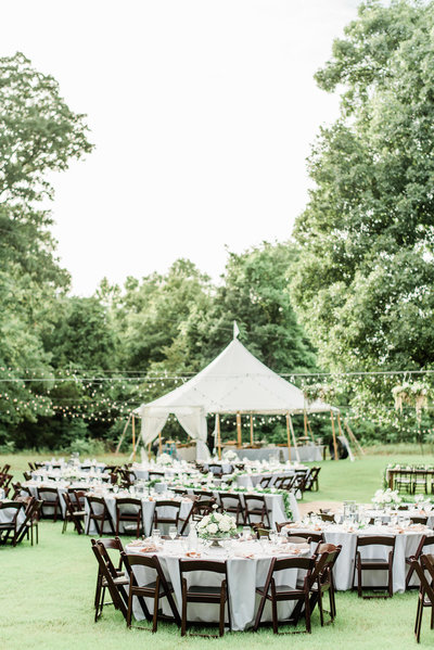 backyard wedding with tent oklahoma