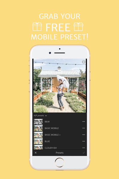 free lightroom mobile preset after popup